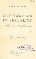 """foaie de titlu carte """"Capitalisme et sexualite"""""""