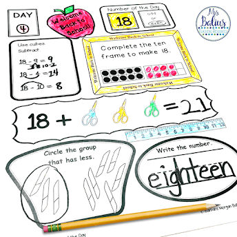 First Grade Number of the Day will give students the practice they need to develop solid number sense skills