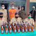 63 बोतल विदेशी शराब और मोटर साइकिल समेत एक कारोबारी गिरफ्तार