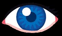 いろいろな色の目のイラスト(青)