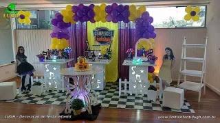 Decoração da mesa de aniversário tema Cúmplices de um Resgate para festa feminina - Barra - RJ