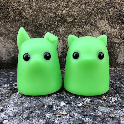 Tiny Ghost Puppy & Kitty Glow in the Dark Edition Vinyl Figures by Reis O'Brien x Bimtoy x Bottleneck Gallery