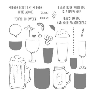 Stampin' Up! UK Independent  Demonstrator Susan Simpson, Craftyduckydoodah!, Mixed Drinks, May 2017 Coffee & Cards Project, Supplies available 24/7 from my online store,