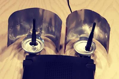 Antenas de amplificador wifi casero