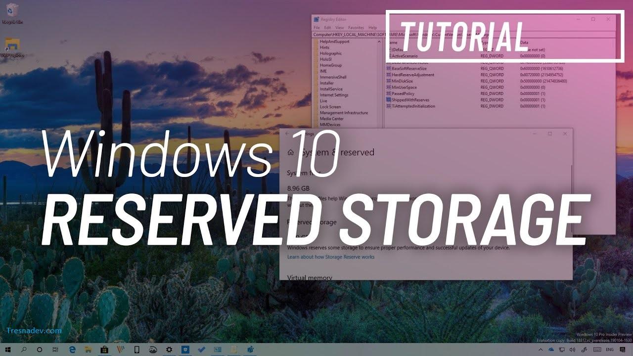 Cara Ampuh Mengurangi Ukuran 'Reserved Storage' Pada Windows 10