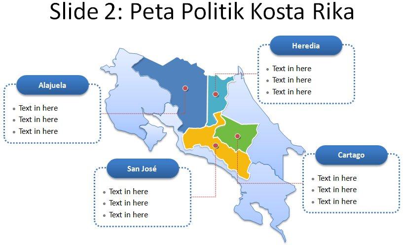 image: Slide 2 ppt peta kostarika