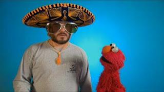Jack Black wears various disguises to fool Elmo. Sesame Street The Best of Elmo 2