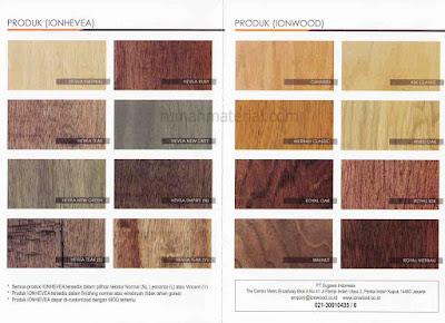 Pilihan Corak dan Warna Ionhevea dan Ionwood