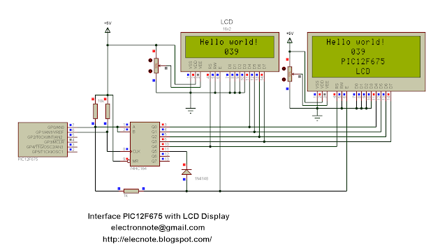 pic12f683 lcd example lcd interface