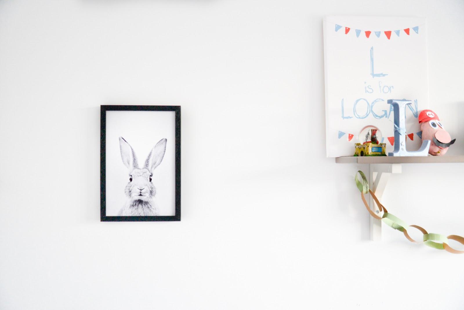 rabbit print, rabbit frame