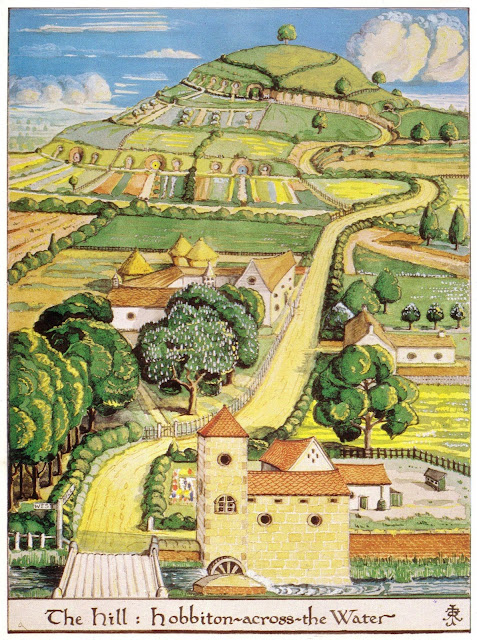 The Hill. Hobbiton across the Water illustration by J.R.R. Tolkien