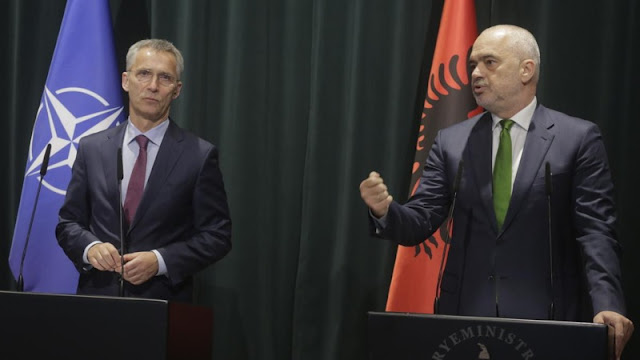 Stoltenberg and Rama speaks about the Russian influence in the Balkans