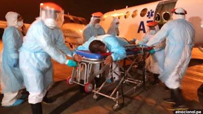 Siete médicos contagiados de coronavirus en Loreto recibirán atención en Lima