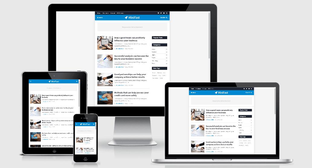 Share template blogspot MiniFast responsive premium