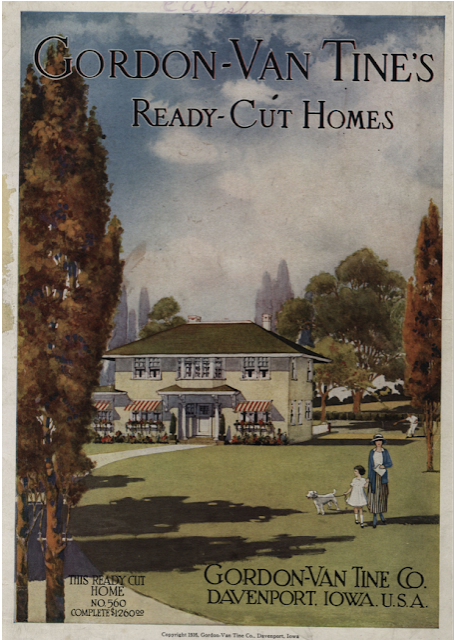 colorful image of front cover of the 1916 Ready-Cut homes catalog by Gordon-Van Tine