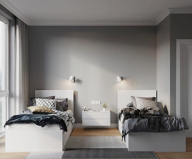 Thiết kế và thi công hoàn thiện nội thất căn hộ chung cư Sunshine City Quận 7 - Phòng ngủ trẻ em