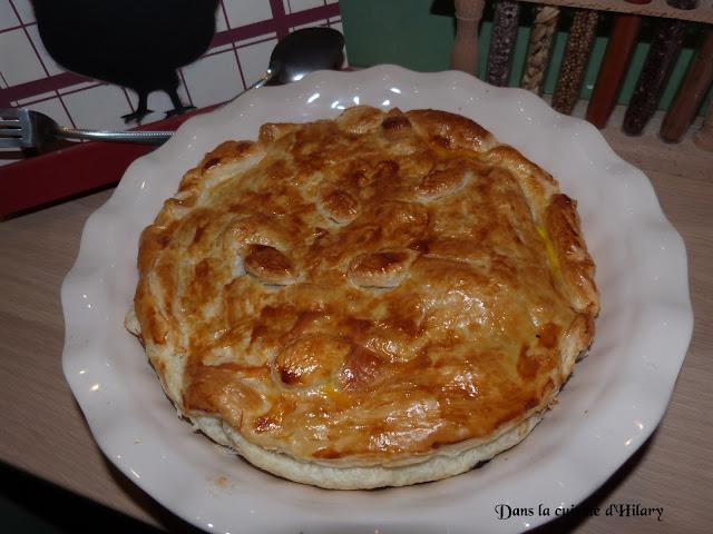 Tourte au poulet, poivrons et chorizo