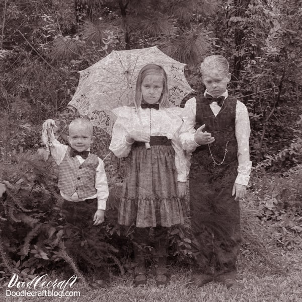 Victorian Ghost Children caught on camera! Halloween Photograph Editing Tutorial