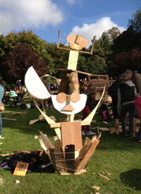 junk wood sculpture by Miki Z and Fin, saltwell park