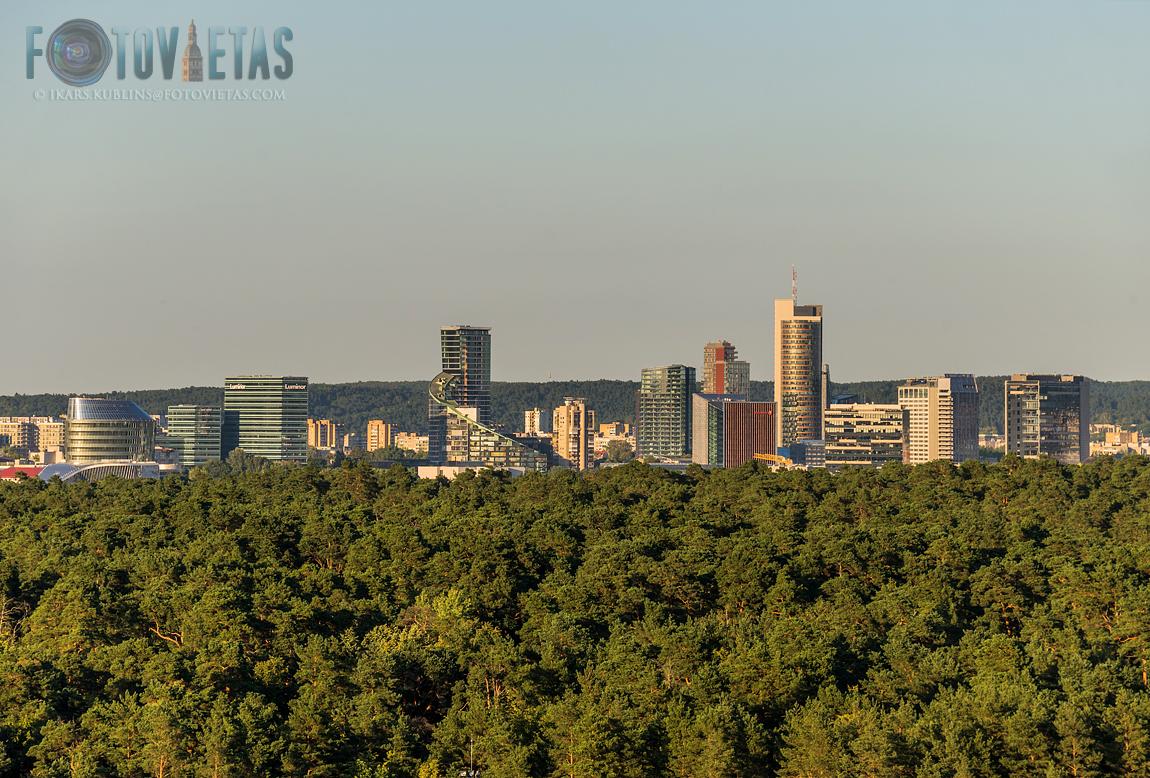 Vilnius modern skyline from afar