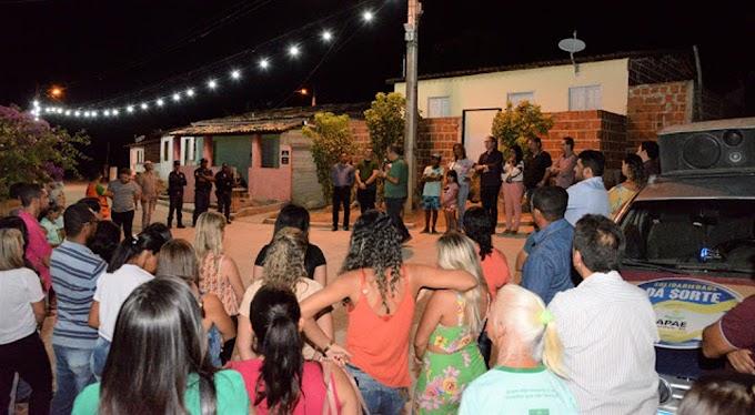 Prefeitura de Jacobina entrega obra de pavimentação na Palmeirinha