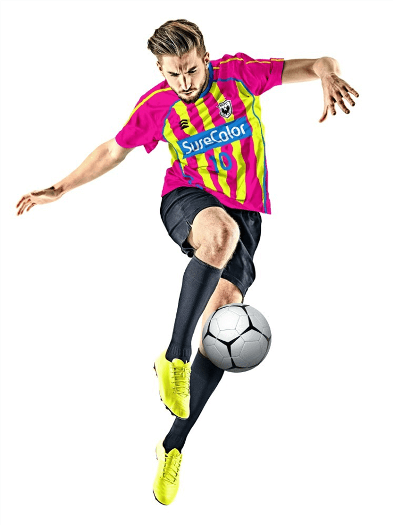 Fluorescent colors on sports apparel