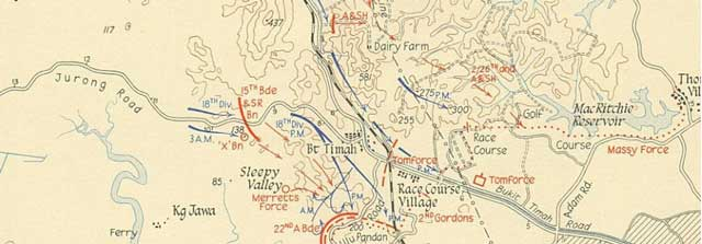 Map of fighting on Singapore, 11 February 1942 worldwartwo.filminspector.com