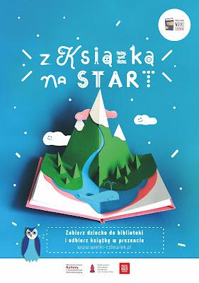 Plakat zachęcający do zapisania dziecka do biblioteki oraz wypożyczania