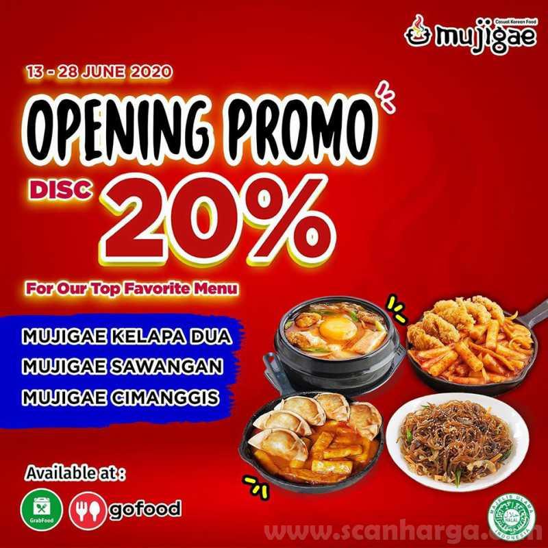 Promo Opening Mujigae Kelapa Dua, Sawangan, Cimanggis Diskon 20% Menu Favorit!