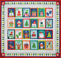 Novelty christmas advent calendar fabric from Makower