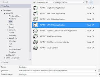 Cara Buat Project Baru ASP NET MVC
