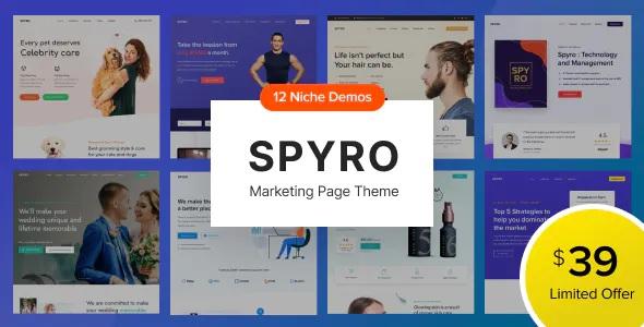 Best Marketing Landing Page WordPress Theme
