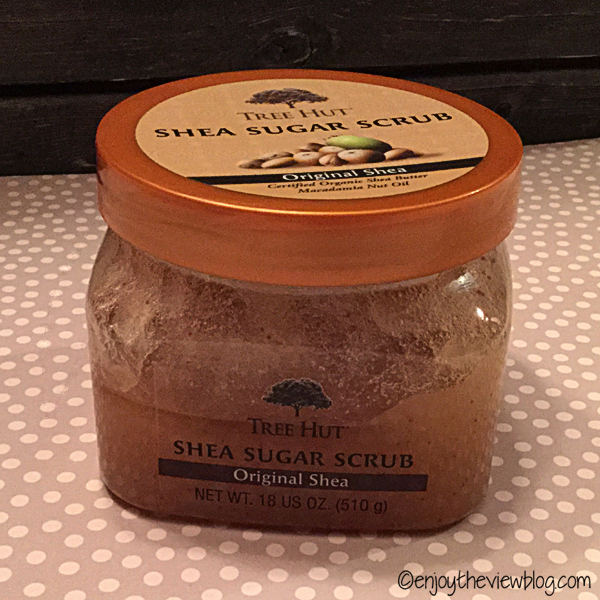 jar of Tree Hut shea sugar scrub
