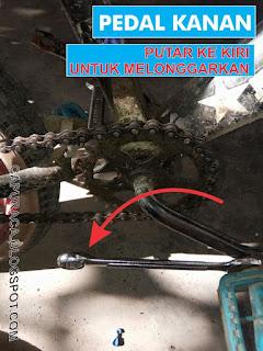Cara mengganti pedal sepeda