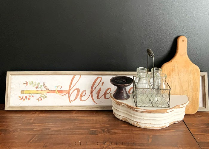 Use items from goodwill to recreate decor pieces from inspiration
