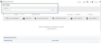 Cara Verifikasi Blog atau Website Ke Bing Webmaster