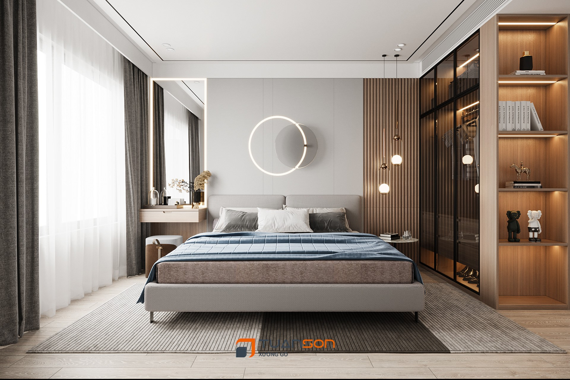 Thiết kế nội thất 2 phòng ngủ Vinhomes Symphony Gia Lâm