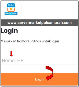 cara login di aplikasi market mobile topup
