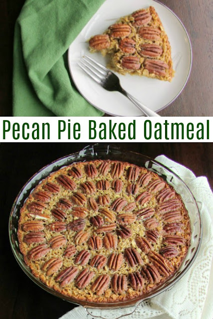 Have the flavors of pecan pie in baked oatmeal form. This may taste like dessert, but it's really a nutritious and hearty breakfast. Have it for Thanksgiving morning brunch or any day!