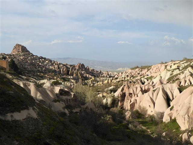 panorama sulla valle dei piccioni da Uchisar