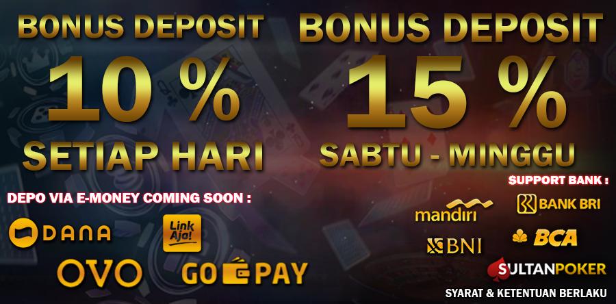 bonus deposit 15%,situs poker terbaik,daftar poker idn