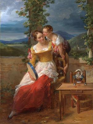 Mère et Enfant au Tambourin (1819), Antoinette Cécile Hortense Haudebourt-Lescot