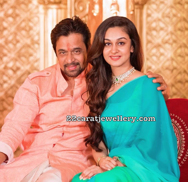 Aishwarya Arjun Diamond Necklace