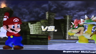 Mario Superstar Baseball VS. Bowser match-up batter pitcher