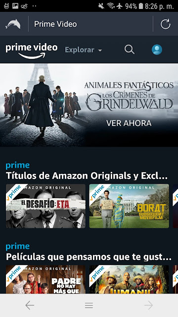 prime video gratis desde android