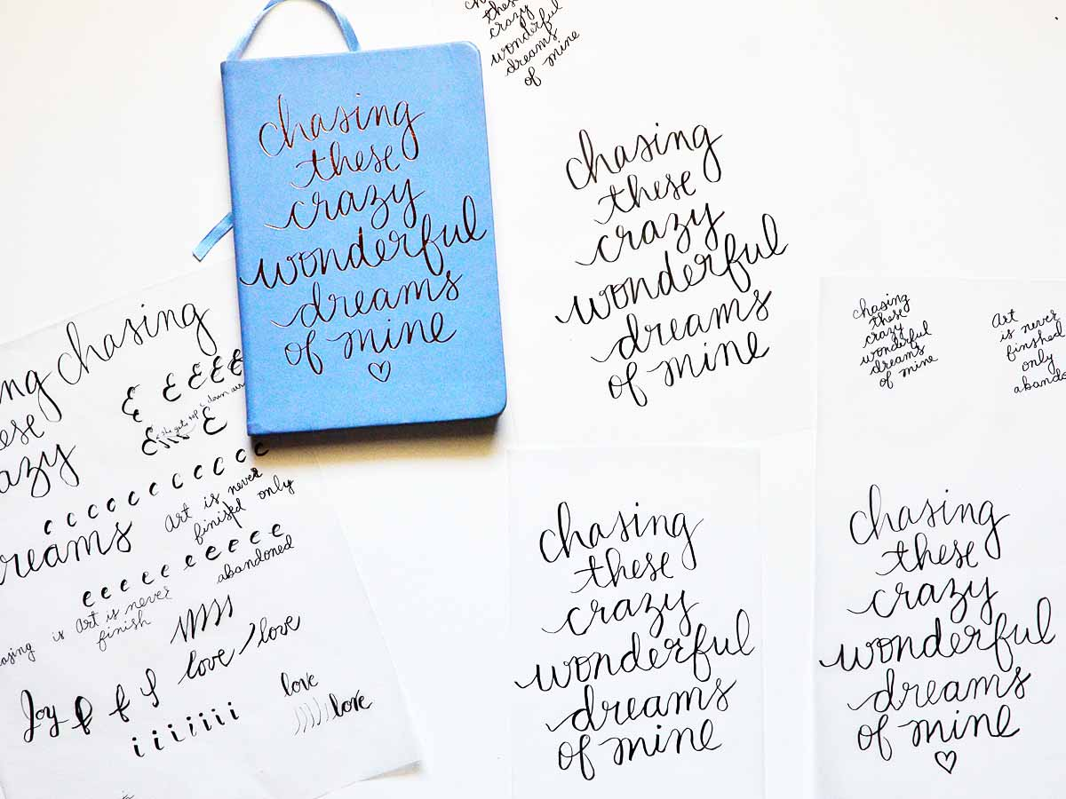 Hand Lettering practice idea