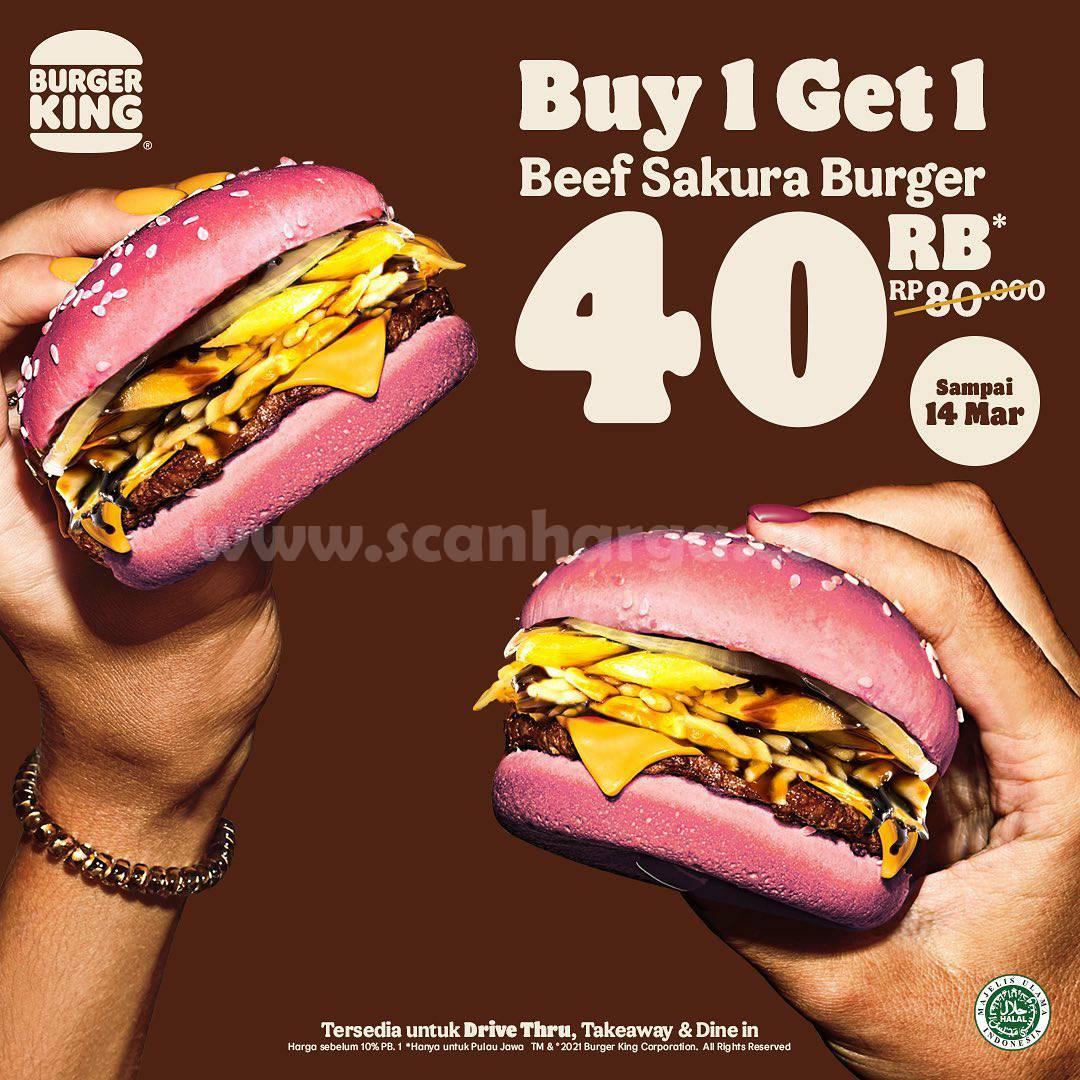 Burger King Promo Beli 2 Beef Burger Sakura Rp 40K + Desert Super Float cuma Rp 20K