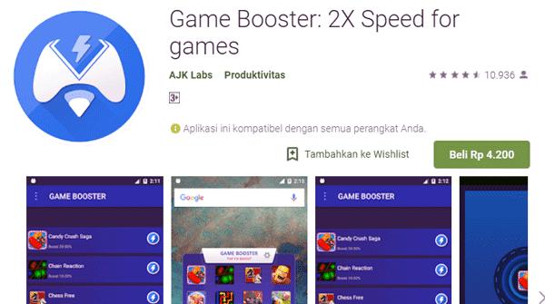 versi premium berbayar tapi mampu meningkatkan kecepatan game 2 kalilipat dari sebelumnya