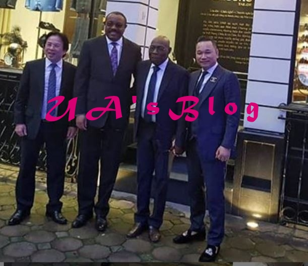 Olusegun Obasanjo Spotted Looking Dapper In Suit As He Steps Out In Vietnam (Photos)