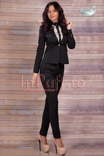 Costum dama negru elegant • MBG1